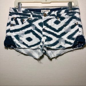 RUE21 | CHEVRON & CROCHET SHORTS